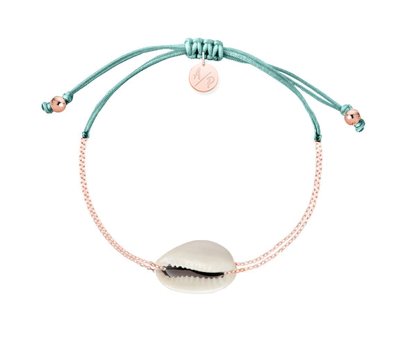 Mini Natural Shell Chain Bracelet - Rose Gold/Mermaid