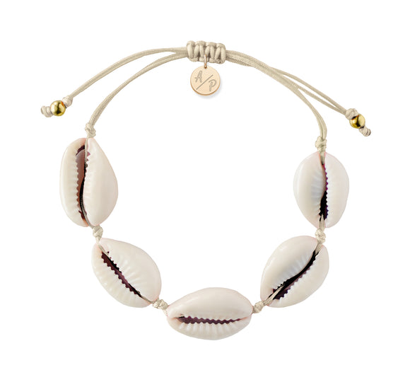 Natural Shell Adjustable Bracelet - Ivory