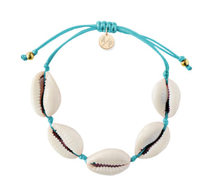 Natural Shell Adjustable Bracelet - Turquoise