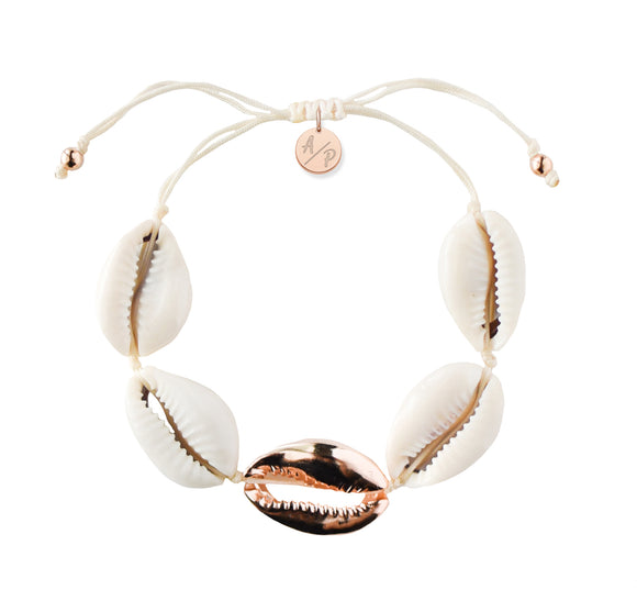 Metal Shell Accent Bracelet - Rose Gold