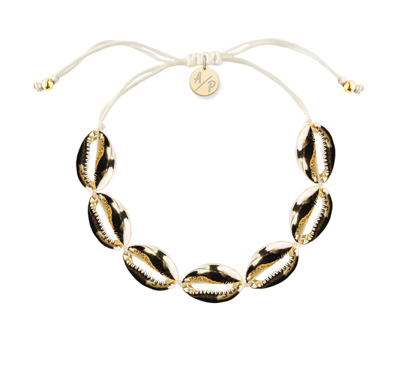 Mini Shells Bracelet - 14k Gold on Ivory