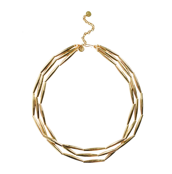 Liquid Gold Necklace - Three Strand
