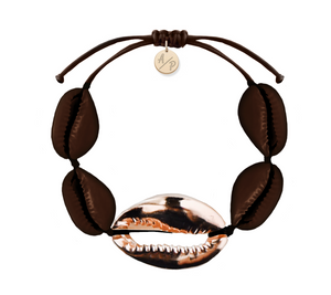 Mega Shell Bracelet - Shiny Brown/14k Rose Gold