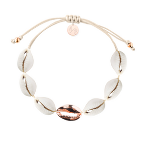 Single Rose Gold Mini Shell Bracelet