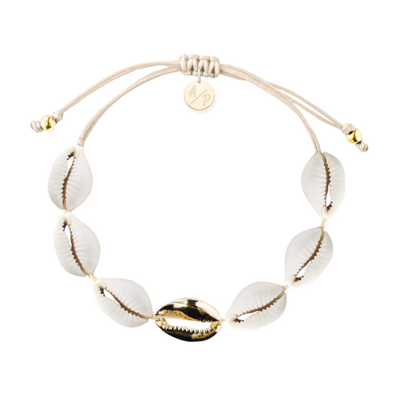Single Gold Mini Shell Bracelet