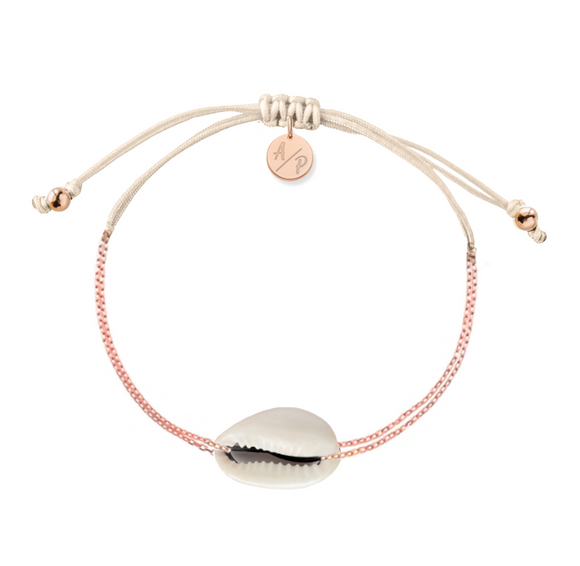 Mini Natural Shell Chain Bracelet - Rose Gold/Ivory