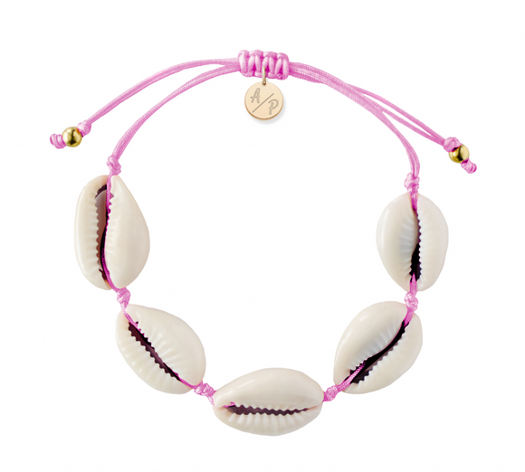 Natural Shell Adjustable Bracelet - Orchid