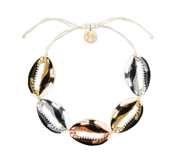 Sleek Shells Bracelet - Tricolor