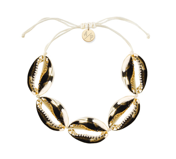 Sleek Shells Bracelet - Gold/Ivory