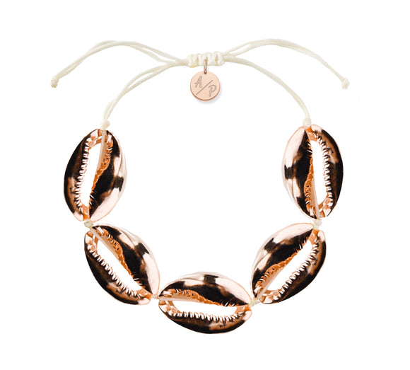 Sleek Shells Bracelet - Rose Gold/Ivory