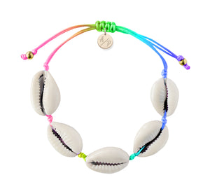 Natural Shell Adjustable Bracelet - Rainbow