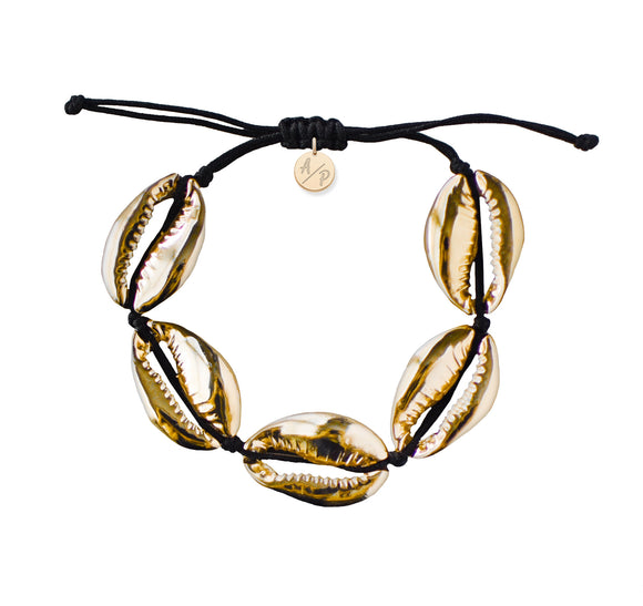 Sleek Shells Bracelet - Gold/Black