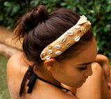 Shell Confetti Headband in Tan