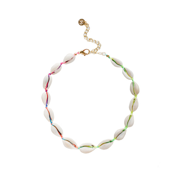 Mini Natural Shell Choker on Rainbow