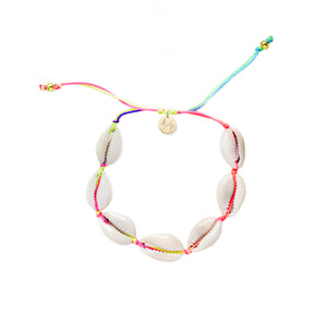 Mini Natural Shell Adjustable Bracelet - Rainbow