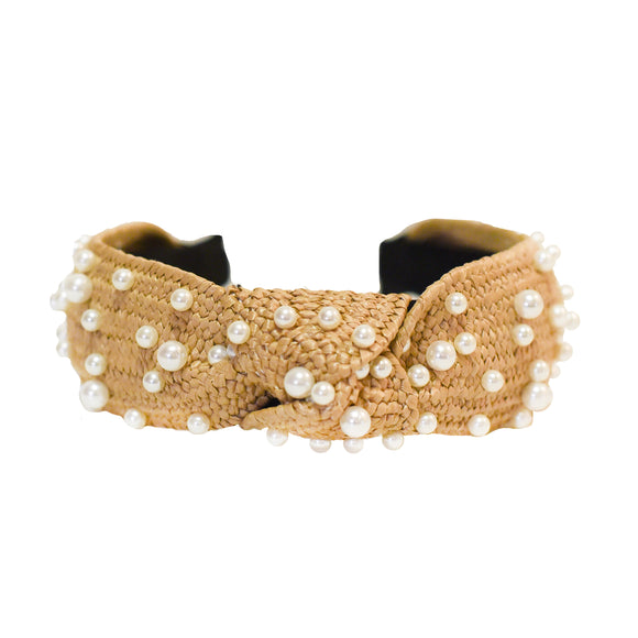 Polka Dot Pearls Headband