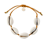 Natural Shell Adjustable Bracelet - Pumpkin Spice