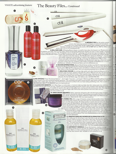 Vogue Magazine review of COR silver soap