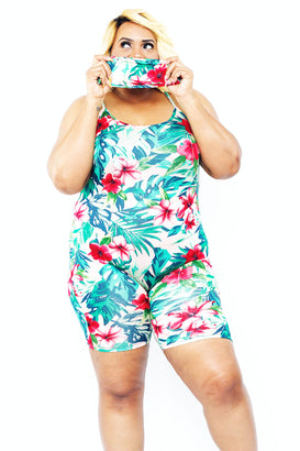 Bring Me Flowers Romper W/ Mask - Almond Milk Collection