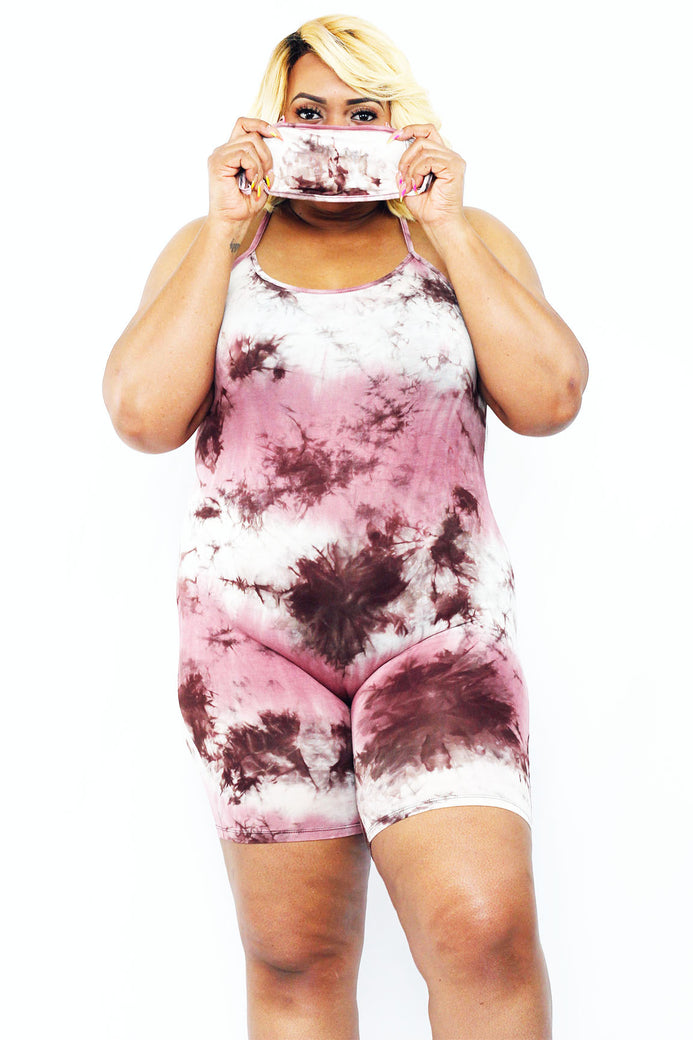 Sweet Tooth Romper W/ Mask - Almond Milk Collection