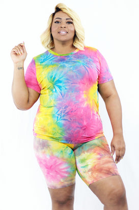 Starburst Tie Dye Set - Almond Milk Collection