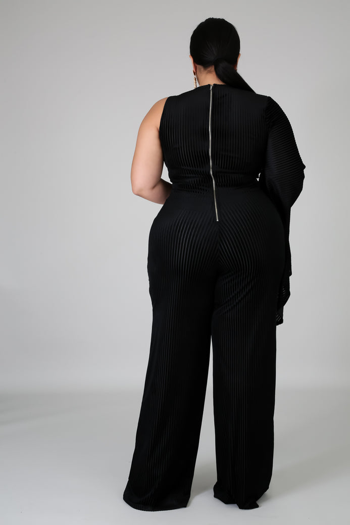 Foxy Black Jumpsuit (Black) - Almond Milk Collection