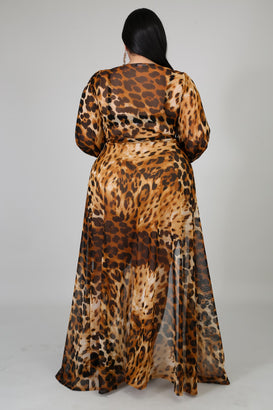 Animal Instinct Maxi Dress - Almond Milk Collection