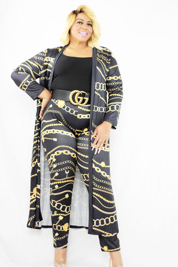 Black Luxury Pants 3 pc Set - Almond Milk Collection