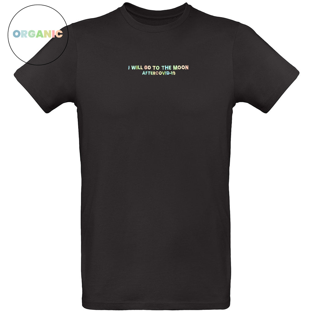 BLACK T-SHIRT - MEN - I WILL GO TO THE MOON