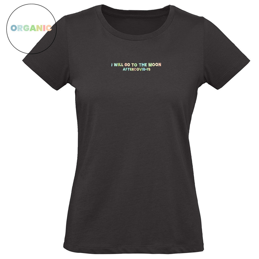 T-SHIRT WOMEN NERA - I WILL GO TO THE MOON