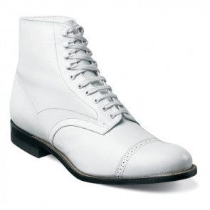 Madison Cap Toe Ankle Dress Boot in White