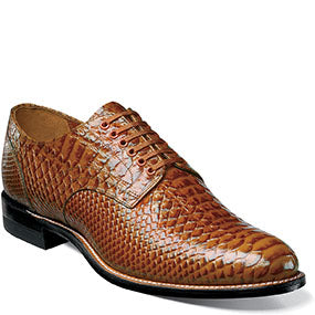 Stacy Adams Madison Anaconda Plain Toe Oxford Color - Tan  Style:  00055-240