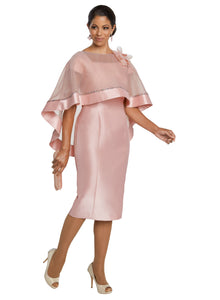 Donna Vinci 2 Pc. Dress & Cape Set - 11783