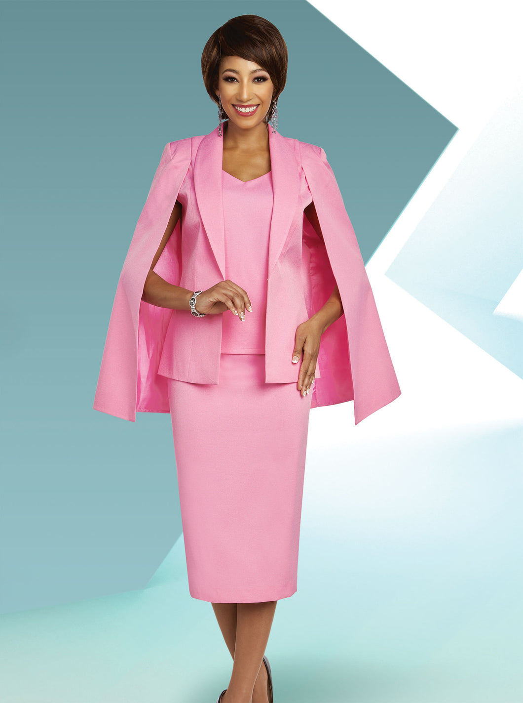 Ben Marc Executive Pink 3 Pc Suit -11803