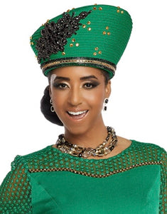 Donna Vinci Kelly Green Hat - H11804
