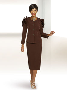 Ben Marc Executive Chocolate 2pc Skirt Suit -11813