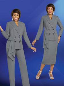 Ben Marc Executive Silver 2 pc Suit (Skirt or Pants) -11818