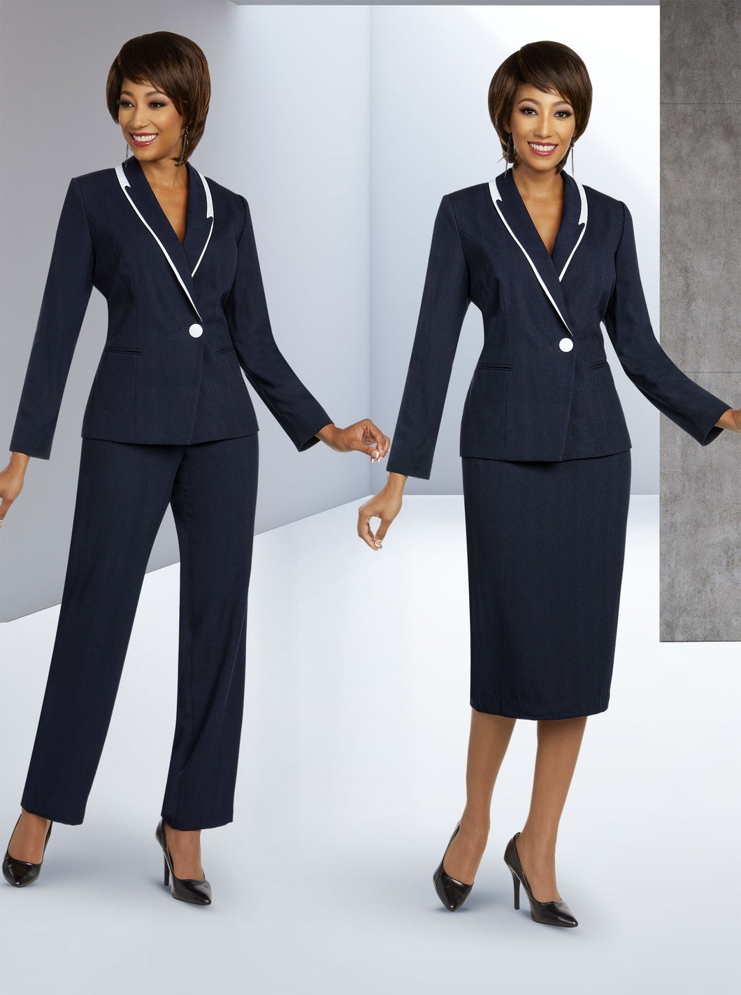 Ben Marc Executive Navy 2pc Suit (Pants or Skirt)  -11821