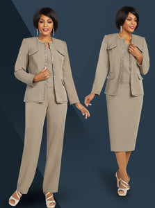 Ben Marc Executive Taupe 2 pc Suit (Skirt or Pants) -11826