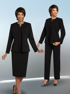 Ben Marc Executive Black 2 pc Suit (Skirt or Pants) -11829