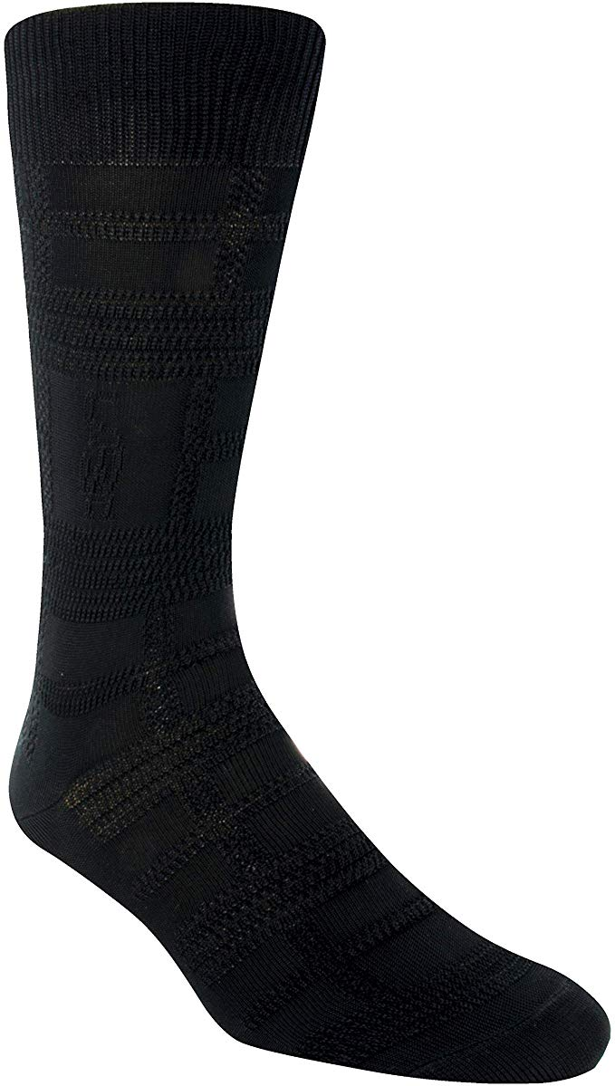 Stacy Adams Plaid Brown Crew Socks - 11687-001
