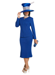 Donna Vinci Royal Knit 3 piece Jacket, Cape and Skirt Set - 13269