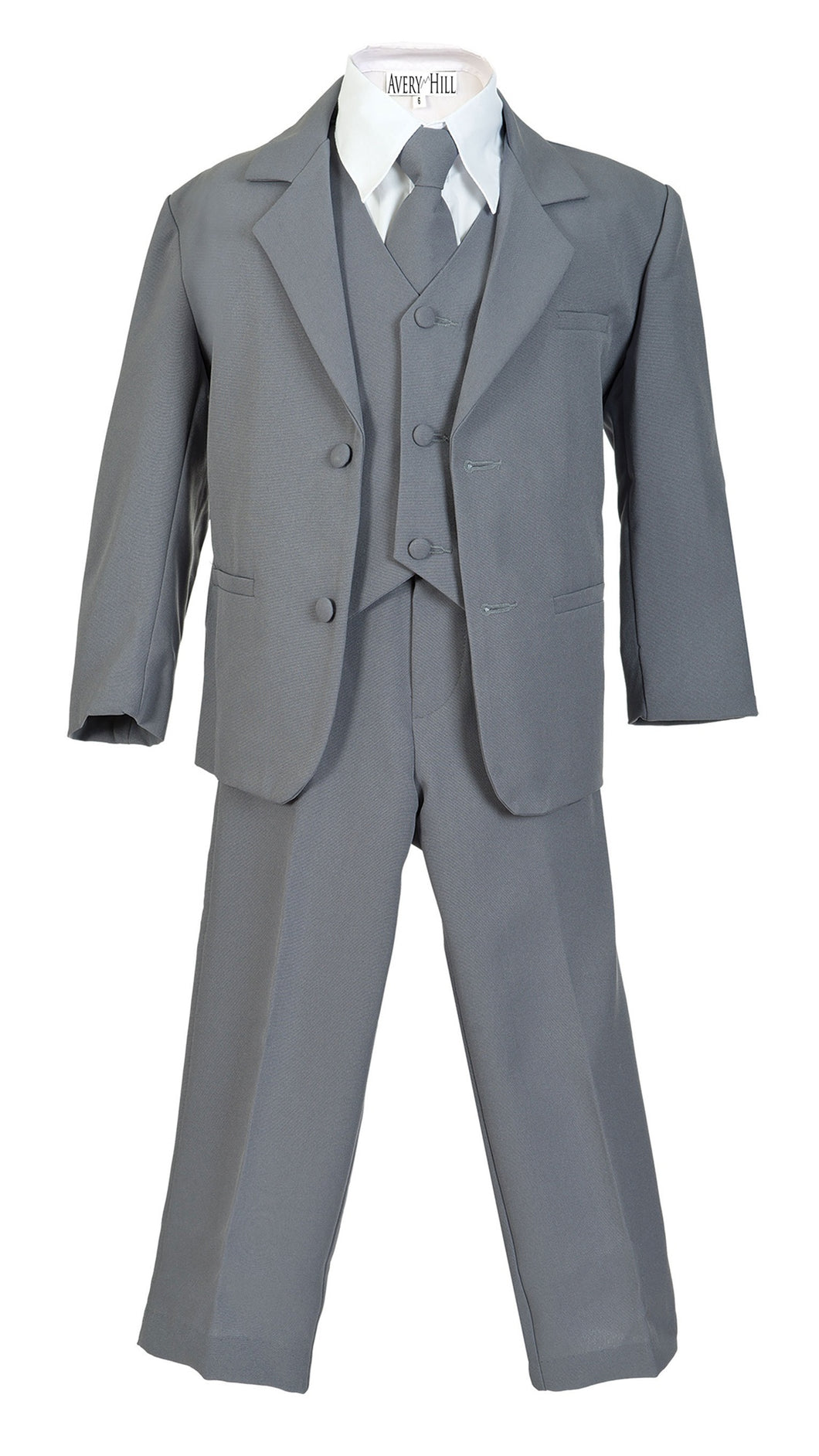 Braveman  3 Piece Little Boy's  Suit Including Shirt And Tie  SKU;008346 Color- Light Gray Size - 7 Small