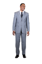 Load image into Gallery viewer, FALCONE Single Breasted Two Button 3Pc Suit - 3420 BURTT L VESTED