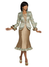 Load image into Gallery viewer, Donna Vinci knit 2 piece Jacket and Skirt Set - 5640