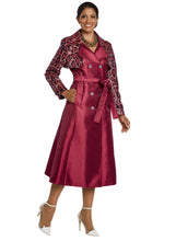 Load image into Gallery viewer, Donna Vinci Knit 2 piece Jacket and Dress Set - 5643