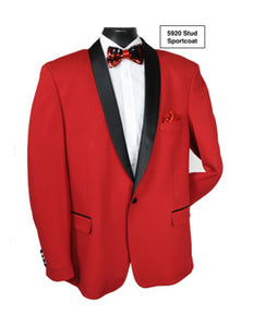 Stacy Adams Red Sport Coat - 5920 Stud SC