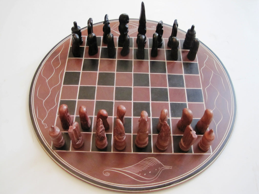 African Carved Chess Sets - Hand Carved  SKU: XNH