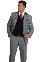 Load image into Gallery viewer, Stacy Adams Single Breasted 2 Button Suit - 8132 ROY T MIX (2 Colors)