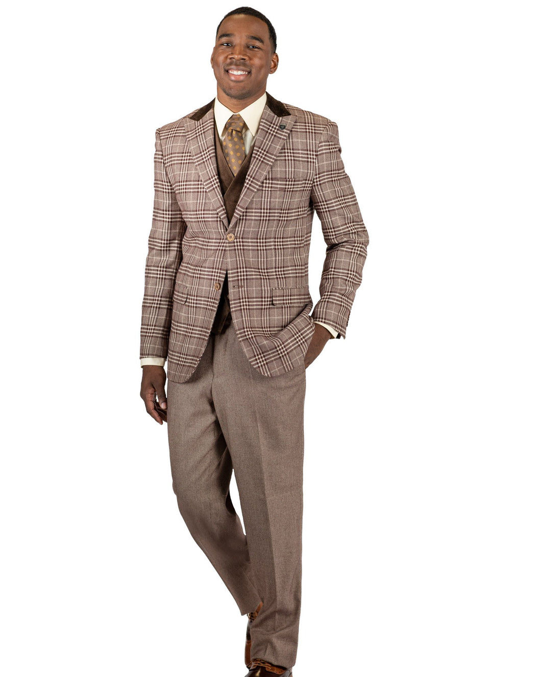 Stacy Adams Single Breasted 2 Button Suit - 8132 ROY T MIX (2 Colors)